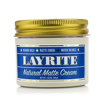 Layrite Natural Matte Cream (Medium Hold, Matte Finish, Water Soluble)