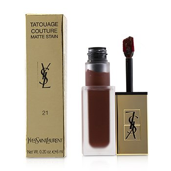 伊夫聖羅蘭 YSL Tatouage Couture Matte Stain - # 21 Burgundy Instinct