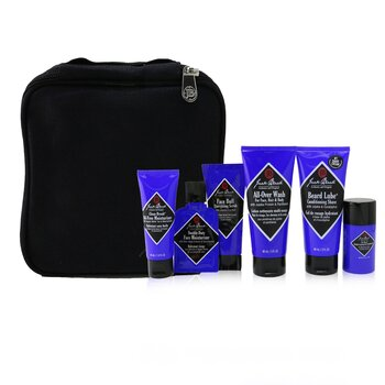 傑克布萊克 Grab & Go Traveler 5-Pieces Set: All-Over Wash 88ml + Conditioning Shave 88ml + Moisturizer 44ml + Deodorant 37g + Travel Bag